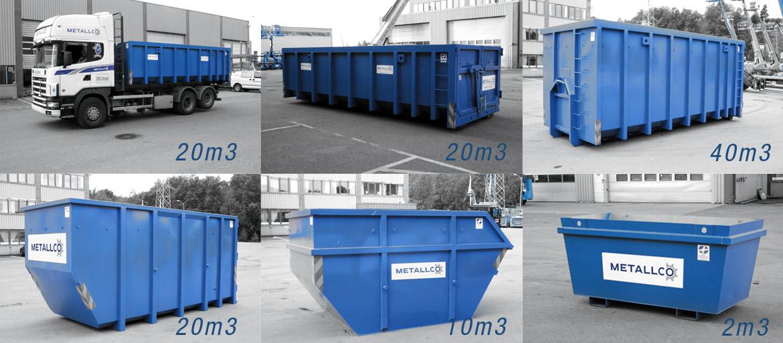 Våre containere. Alle kan leveres åpne eller lukket.